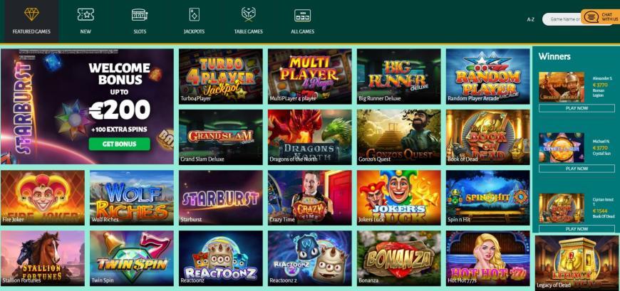 Billion Casino spellen