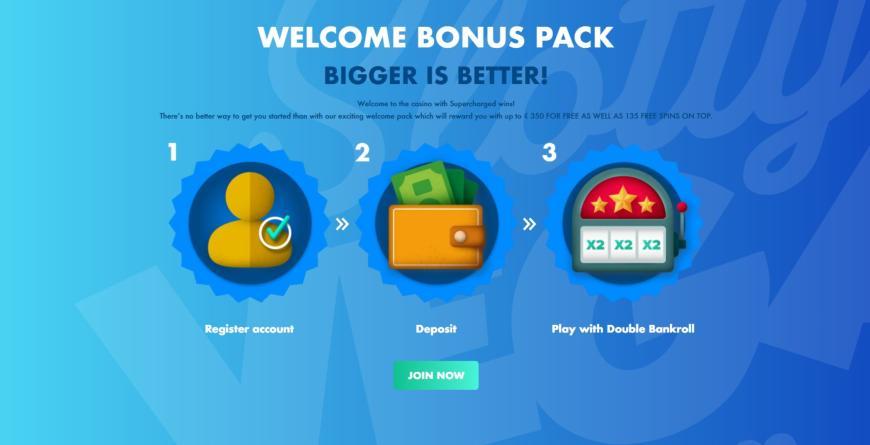 Slotty Vegas Casino welcome bonus
