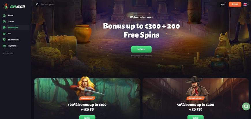 Slothunter bonussen
