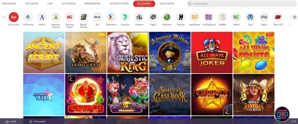 SlotWolf Casino spellen