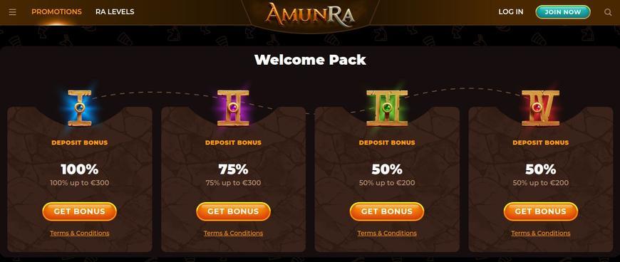 AmunRa Casino bonussen