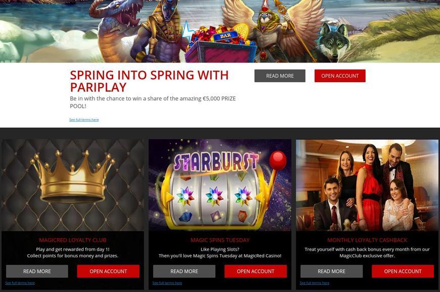 MagicRed Casino bonussen